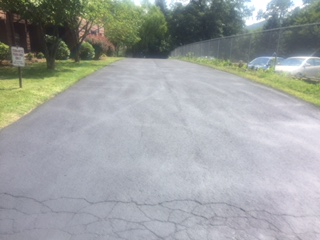 Before picture - cracks in pavement