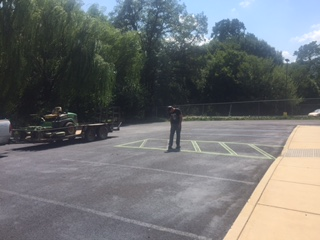 painting the parking spots