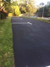 parking spots lined