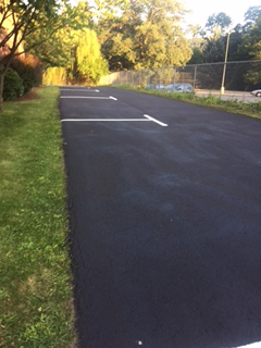 parking spots lined